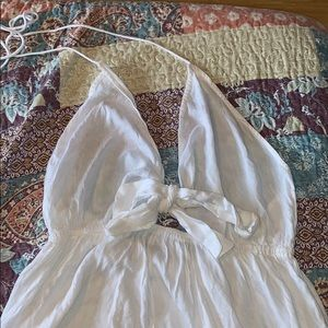 Floor length white swim suit cover up size 14